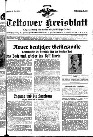 Teltower Kreisblatt vom 06.11.1934