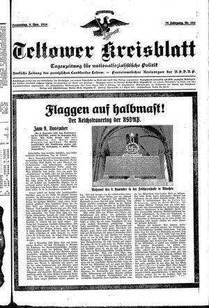 Teltower Kreisblatt vom 08.11.1934