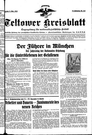 Teltower Kreisblatt vom 09.11.1934