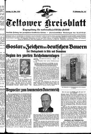 Teltower Kreisblatt vom 12.11.1934