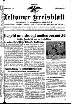 Teltower Kreisblatt vom 13.11.1934