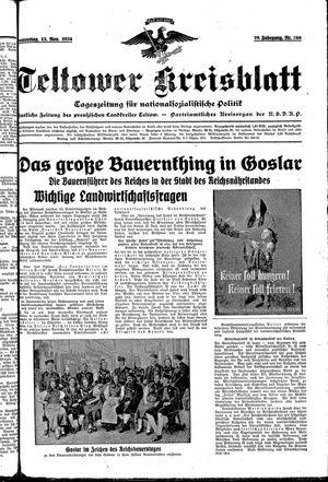 Teltower Kreisblatt vom 15.11.1934