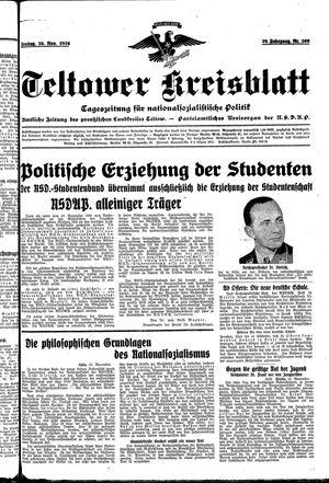 Teltower Kreisblatt vom 16.11.1934
