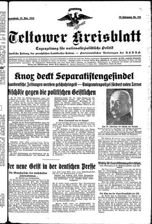 Teltower Kreisblatt vom 17.11.1934