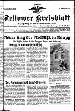 Teltower Kreisblatt vom 19.11.1934