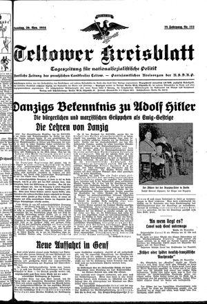 Teltower Kreisblatt vom 20.11.1934