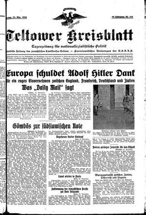 Teltower Kreisblatt vom 23.11.1934
