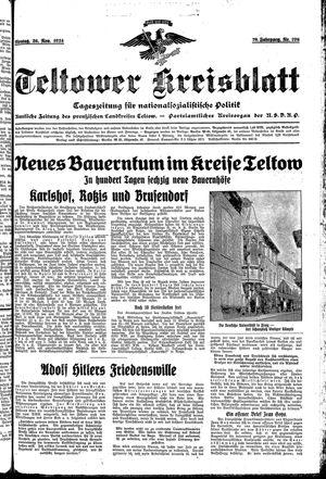 Teltower Kreisblatt vom 26.11.1934