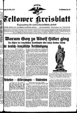Teltower Kreisblatt vom 30.11.1934
