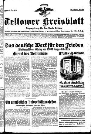Teltower Kreisblatt vom 03.12.1934