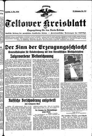 Teltower Kreisblatt vom 04.12.1934