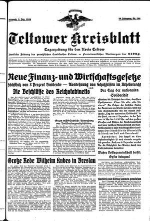 Teltower Kreisblatt vom 05.12.1934