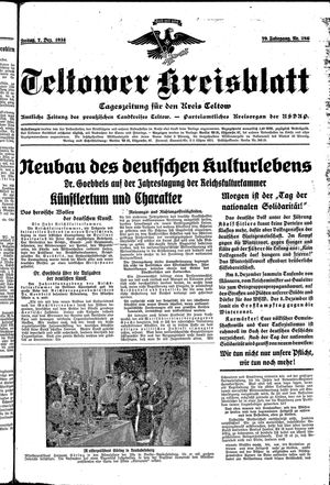Teltower Kreisblatt vom 07.12.1934