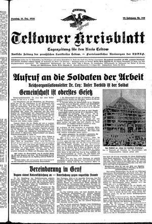 Teltower Kreisblatt vom 11.12.1934