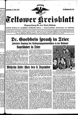 Teltower Kreisblatt on Dec 13, 1934