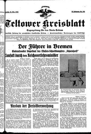 Teltower Kreisblatt vom 14.12.1934
