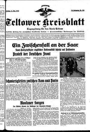 Teltower Kreisblatt vom 17.12.1934