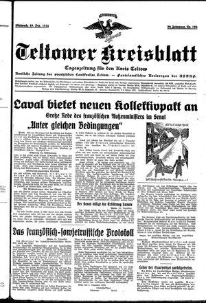 Teltower Kreisblatt vom 19.12.1934