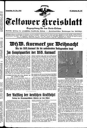 Teltower Kreisblatt vom 20.12.1934
