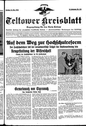 Teltower Kreisblatt vom 21.12.1934