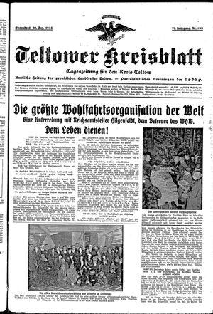 Teltower Kreisblatt vom 22.12.1934