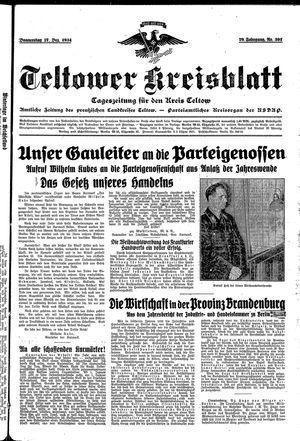 Teltower Kreisblatt vom 27.12.1934