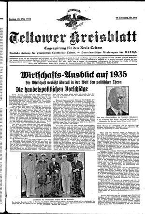Teltower Kreisblatt vom 28.12.1934