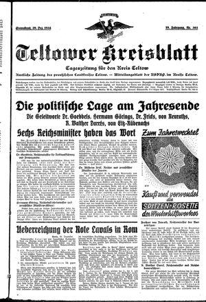 Teltower Kreisblatt vom 29.12.1934