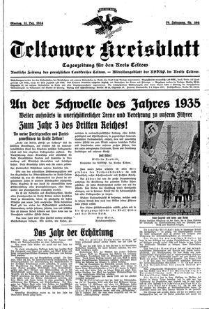 Teltower Kreisblatt vom 31.12.1934
