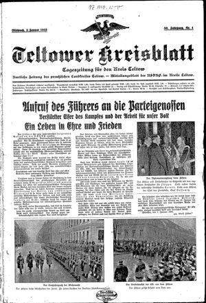 Teltower Kreisblatt vom 02.01.1935