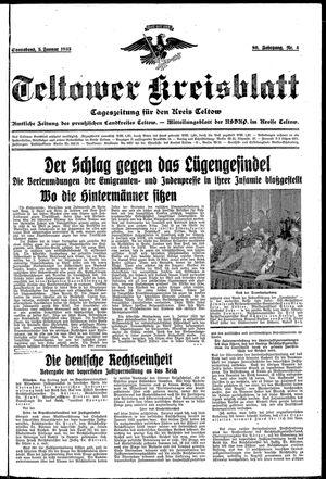 Teltower Kreisblatt vom 05.01.1935