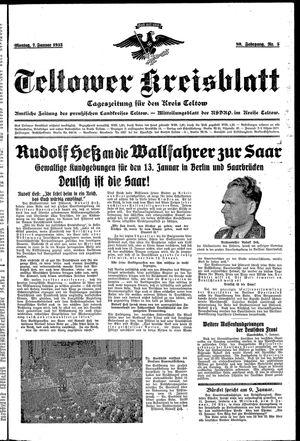 Teltower Kreisblatt vom 07.01.1935