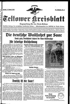 Teltower Kreisblatt vom 11.01.1935
