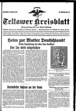 Teltower Kreisblatt on Jan 12, 1935