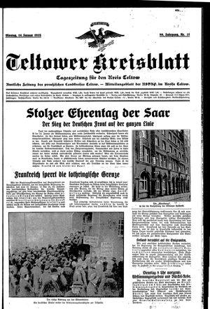 Teltower Kreisblatt on Jan 14, 1935