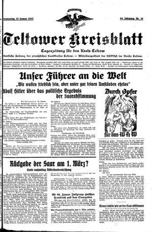 Teltower Kreisblatt vom 17.01.1935