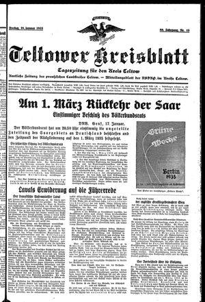 Teltower Kreisblatt vom 18.01.1935