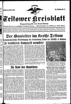 Teltower Kreisblatt vom 21.01.1935