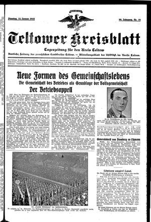 Teltower Kreisblatt on Jan 22, 1935