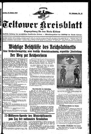 Teltower Kreisblatt vom 25.01.1935