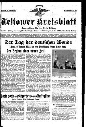 Teltower Kreisblatt vom 29.01.1935