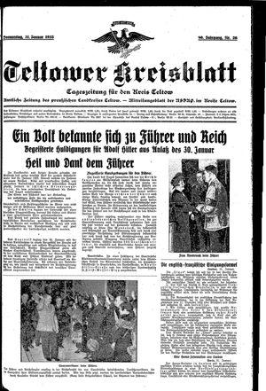 Teltower Kreisblatt vom 31.01.1935
