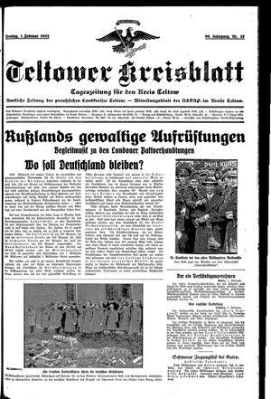 Teltower Kreisblatt vom 01.02.1935