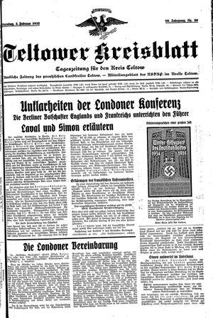 Teltower Kreisblatt vom 05.02.1935