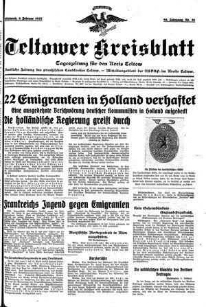 Teltower Kreisblatt vom 06.02.1935