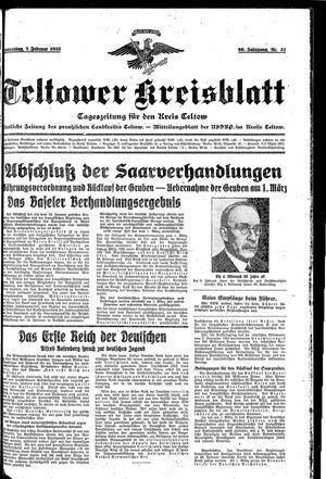 Teltower Kreisblatt vom 07.02.1935