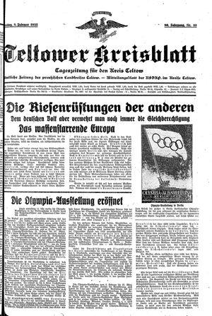 Teltower Kreisblatt vom 08.02.1935