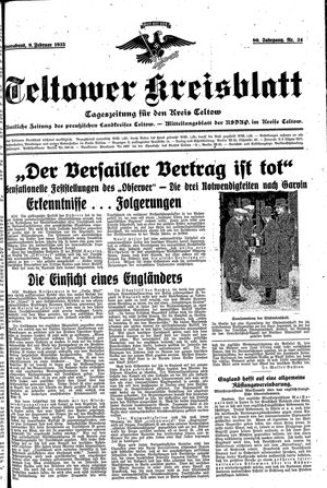 Teltower Kreisblatt vom 09.02.1935