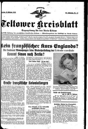 Teltower Kreisblatt vom 11.02.1935