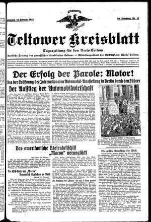 Teltower Kreisblatt vom 13.02.1935